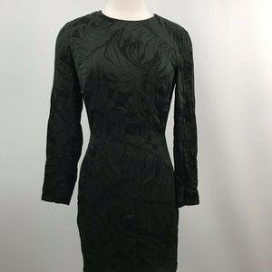 Club Monaco Green Leaf Print Silk dress